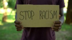 End racism sign