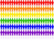 Rainbow Colors, Gay, Lesbian, Bisexual, & Transgender Unity